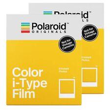 2x Polaroid Originals Colour Film For Polaroid i-Type Cameras