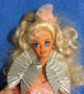 "OOB Barbie Doll ""PEACH PRETTY"" Special Limited Edition 1989 Mattel #4870 Bad Box"