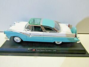 Amercom Collection 1:43 Scale Die Cast Model 1955 Ford Crown Victoria Two Tone