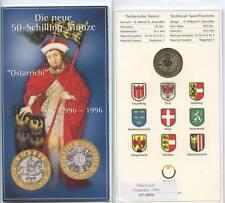 GN283 - Österreich 50 Schilling 1996 im Blister 1000 Jahre Ostarrichi 996-1996