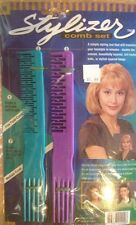 STYLIZER COMB  SET ( SIMILAR TO THOSE SOLD BY OTHERS ON TV ) Green And Purple.