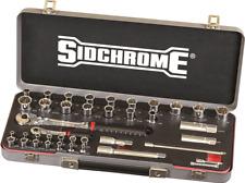 "Sidchrome SOCKET SET SCMT19751 39Pcs 1/4"" & 1/2"" Square Drive, Metric & A/F"