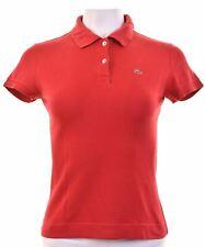 Camisa Polo Lacoste para mujer EU 40 Mediano Rojo Algodón DB18