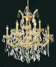 "Palace Maria Theresa 27"" 13 light Crystal Chandelier light Gold Precio Mayorista"