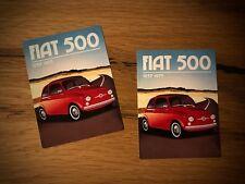 2x FIAT 500 Aufkleber Vintage Classic Oldtimer Retro Italien Kult Oldschool #204