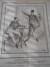 Caricature 1893 La Réforme de l'orthographe supprimer les lettres inutiles