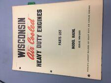 wisconsin engine manual,HAENL illustrated parts manual