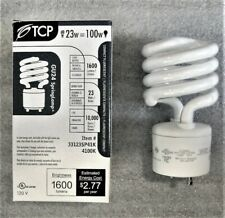 TCP 33123SP41K 23W (100W Equal) GU24 Twist Lock Base Cool White Spiral CFL Bulb
