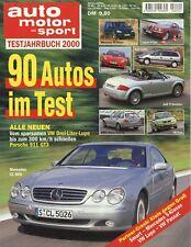 Auto Motor Sport Testjahrbuch 2000 156 DB7 TT Z3 IS200 3200 GT Boxster GT3 Xsara
