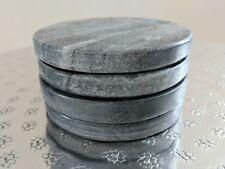 Grey Marble Coasters set of 4