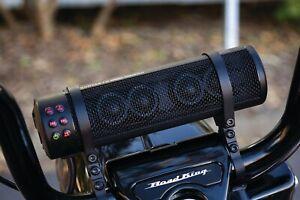 Kuryakyn Road Thunder Sound Bar PLUS Black MTX Handlebar Mounted Speaker Harley