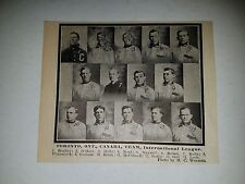 Toronto Maple Leafs 1913 Team Picture Bunny Hearn Amby McConnell Peaches Graham
