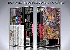 SUPER ADVENTURE ISLAND. NTSC. Box/Case. Super Nintendo. BOX + COVER. (NO GAME).