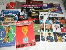 England Football World Cup Tournament Fixture Programmes