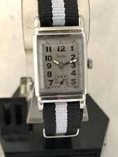 Zentra Cal. 145 Very Rare SS Gents Retro Military Vintage Watch Cir. 1939