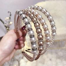 Women's Pearl Headband Fashion Hairband Crystal Head Band Hair Bands Accessories
