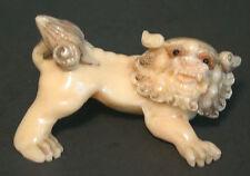 Vintage Japanese  bone netsuke -  Dragon/Kirin/foo dog or Mythical Pei You