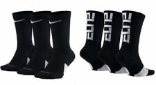NIKE Elite Everyday Crew Socks 3-Pack Black/White/Multi Men's sz 6~8/8~12/12~15
