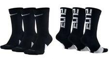 NIKE Elite Everyday Crew Socks 3-Pack Black/White/Multi Men's sz 6~8/8~12/12~15