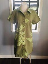 GREEN SIG ZANE HAWAIIAN MUUMUU HULA SHIRT DRESS MADE IN HAWAII SIZE LARGE