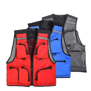 Fishing Vest Sport Multi Pocket Vest Outdoor Swim Fishing Clothes Quick Dry