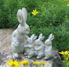 BUNNY RABBIT Mom/3 Babies*Sculpture*Primitive/French Country/Farmhouse Decor