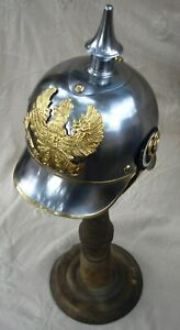 Halloween Prussian Helmet German Metal Pickelhaube Helmet With Liner