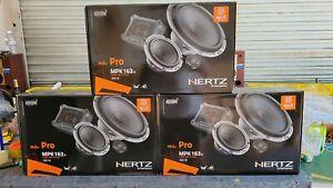 Hertz Mpk163.3 Mille Pro 3 Way 6.5 inch Car Audio Woofer Medi Tweeter