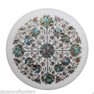 Marble Plate Inlay Work Stone Pietra Dura Handmade Home Decor and Gift