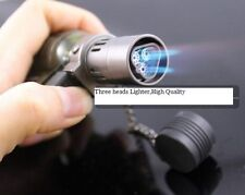 HONEST New Hot 3 Flame Cigarette Cigar Refillable Butane Lighter No Gas