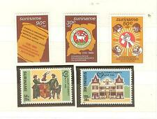 SURINAM LOT TIMBRES THEMES RELIGION CROIX EGLISES  ECT ..