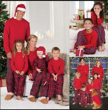 New Family Matching Adult Kids Christmas Pyjamas Xmas Nightwear Pajamas Sets