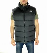 Men's The North Face 700 Down Body Warmer Gilet In Black / Grey Size UK Large