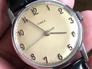 Vintage 1967 Timex Mercury Series Mechanic Men's Watch Serviced New Strap