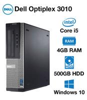 DELL PC SFF Optiplex 3010 Core i3 i5 3rd Gen 500GB HDD Warranty Not Tower