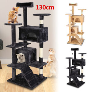 Large Multilevel Cat Tree Tower Cat Scratching Post Climbing Activity Centre New