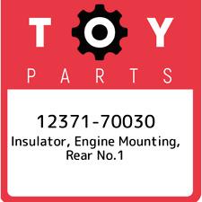 12371-70030 Toyota Insulator, engine mounting, rear no.1 1237170030, New Genuine