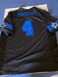 Dallas Cowboys #4 Dak Prescott Short Sleeve Jersey  Blue on Blue XL NWT