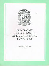 Christie's - Objects of Art, Fine French & Continental Furniture