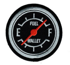 FUEL GAUGE WALLET EMBROIDERED 3 INCH IRON ON PATCH