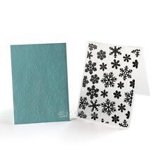 Christmas Snowflake Plastic Embossing Folder for Scrapbook DIY Album Card E0Xc