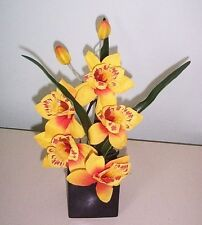 Artificial flowers & plants Cymbidium Orchid pot F26C