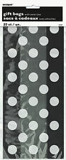 Halloween Trick or Treat Party Gift Favour Cello Bags 20 Black & White Dots
