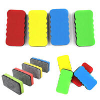 2Pcs Magnetic Rubber Whiteboard Eraser Duster Marker Cleaner Office Supply