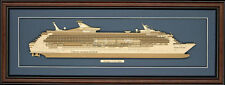 Wood Cutaway Model of Voyager of the Seas - Made in the USA