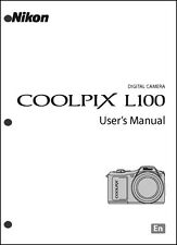Nikon CoolPix L100 Digital Camera User Guide Instruction  Manual