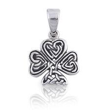 Men's / Unisex Celtic Knot Clover Leaf Sterling Silver Pendant