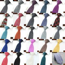 Men Classic Skinny Narrow Solid Tie Slim Party Wedding Jacquard Woven Necktie