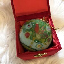 Pier 1 2011 Partridge In A Pear Tree Li Bien Inside Painted Christmas Ornament