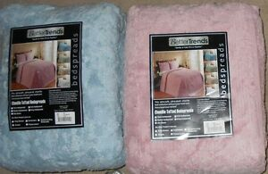 Better Trends Rio Chenille Bedspread Blue Full or Pink King NWT